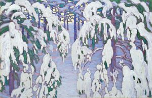 Lawren S. Harris (1885 -1970), Snow Fantasy c. 1917, oil on canvas, 71 × 110.1 cm (27 15/16 × 43 3/8 in.), Gift of Keith and Edith MacIver, McMichael Canadian Art Collection, 1966.16.88