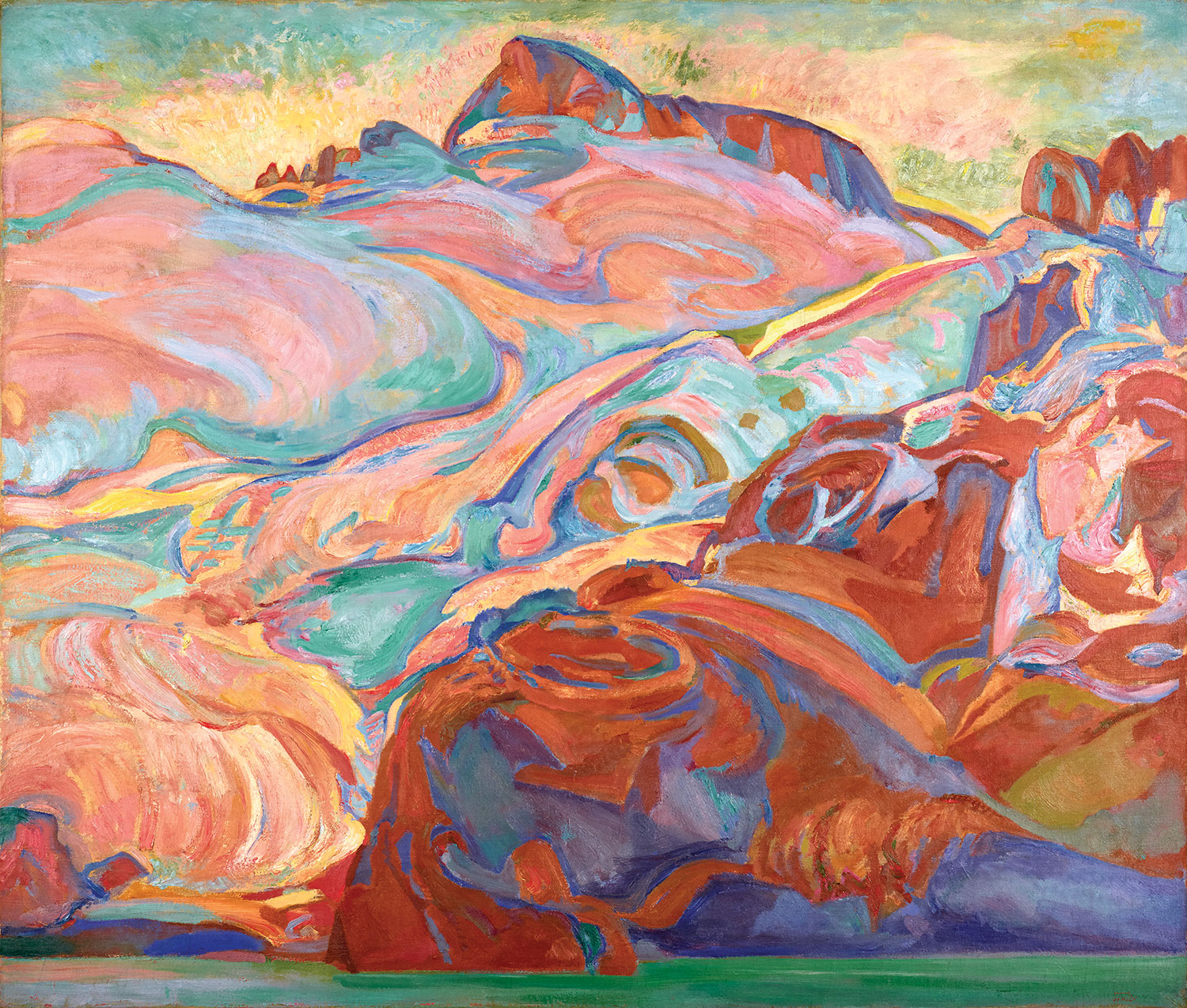 F.H. Varley, Early Morning, Sphinx Mountain, c. 1928