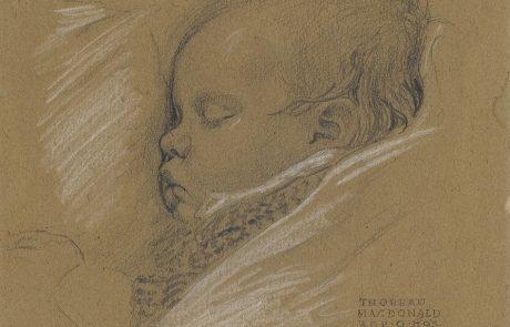 Drawing of baby sleeping.