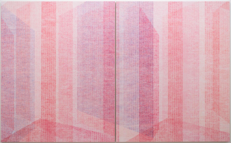 Marie-Claire Blais, Être la porte qui s'ouvre 10, 2017, Acrylic on canvas, 203 x 330 cm, Courtesy of the artist and Galerie René Blouin
