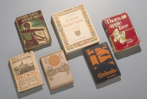 photograph of six books