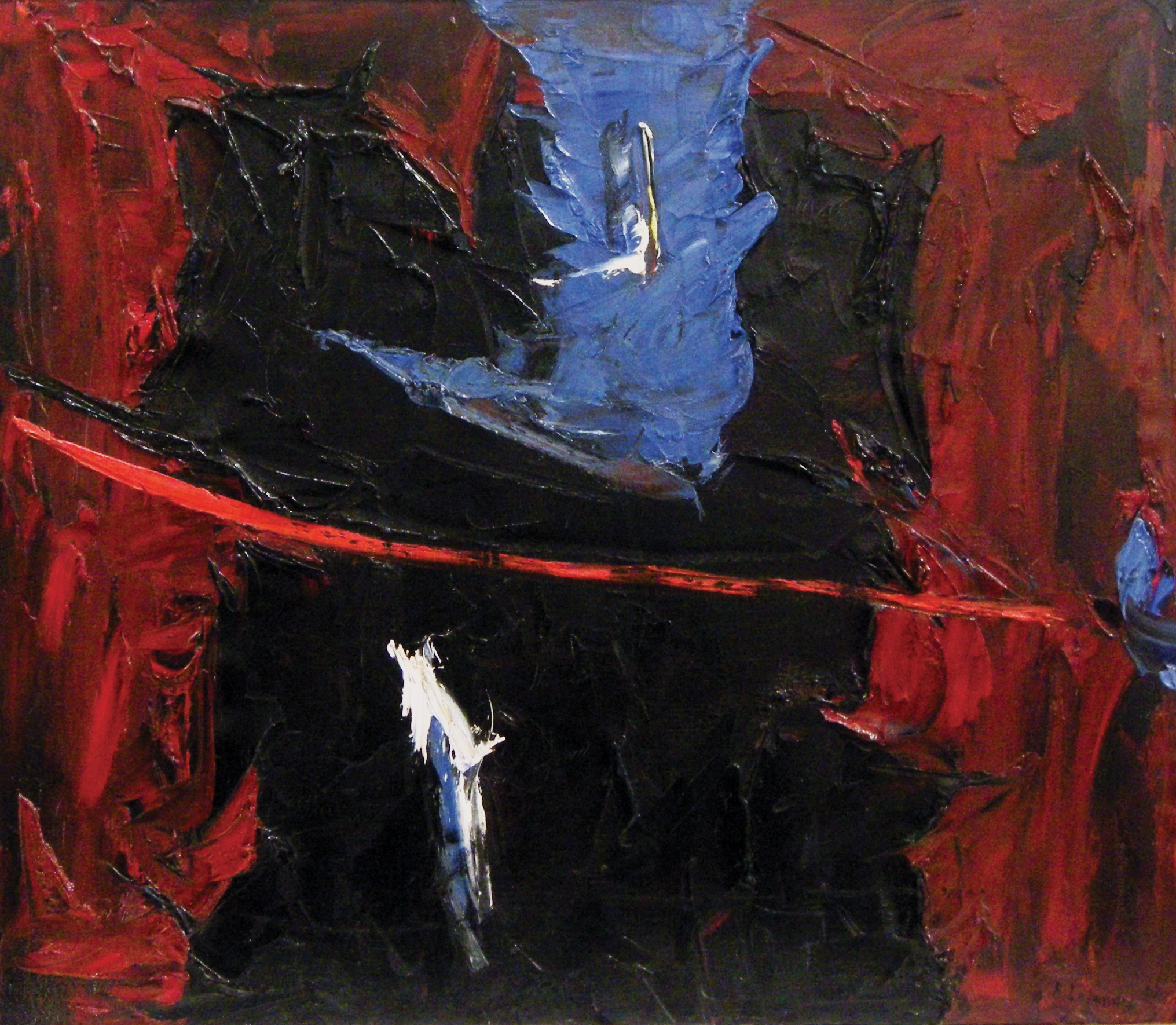 Rita Letendre (born 1928), Partage du midi ,1962, oil on canvas, 63.5 × 73.7 cm, Collection of Robert Bourgeois and Johanne Totta