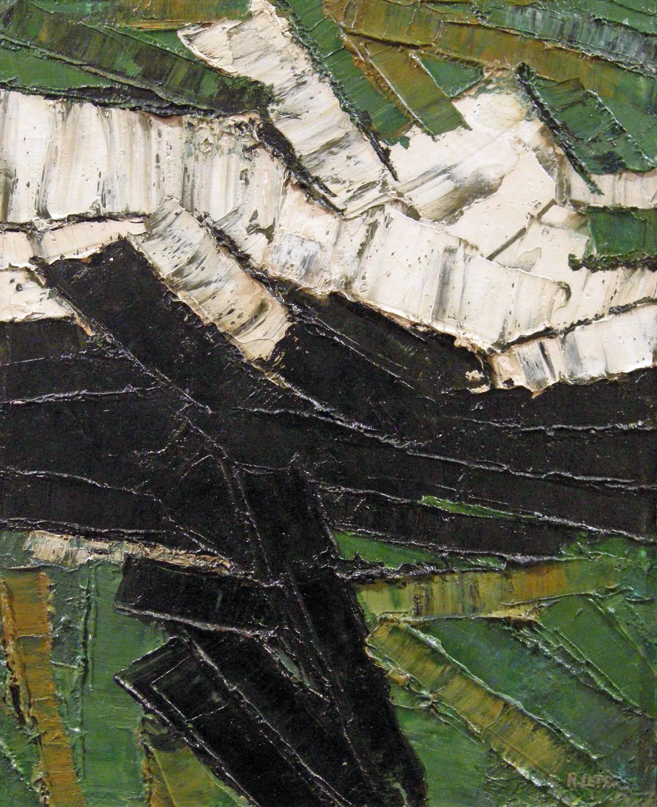 Rita Letendre (born 1928), Le chemin de l'angoisse 1959, acrylic on canvas, 41.9 × 33 cm, Private Collection