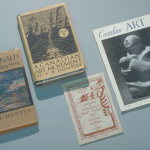 photograph of four books